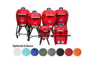 """YNNI KAMADO Sizes 13"""" to 25.2"""" 13 Colours with Chip Feeder Option Ceramic BBQ"""