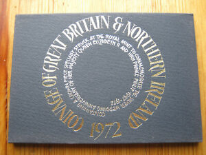 Royal Mint 1972 coinage of Great Britain decimal proof coin set (1)