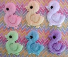 60 Furry Felt Baby Duckie Applique/Easter/Duck/trim/craft/pink/white/yellow H426