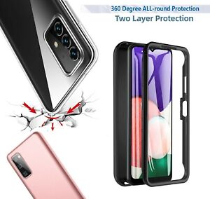 for Samsung A22 5G A12 A42 A52 A51 Clear Case Full Body Silicone Gel Phone Cover