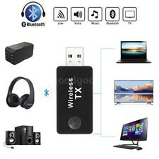 3.5mm USB Bluetooth Audio Transmitter Stereo Music Adapter for TV PC MP3 4 G6H0