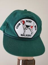 Vintage Coon Hunt With Plott Hound Trucker Hat Usa Made Dog Hunting