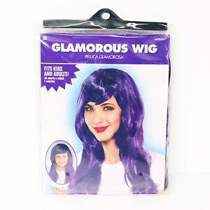 Amscan Glamorous Wig - Purple -  Adults - Kids - Halloween - Costume Cosplay