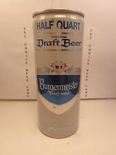 BURGEMEISTER DRAFT 16oz ALUMINUM PULL TAB BEER CAN #144-20  PABST BREWING CO.