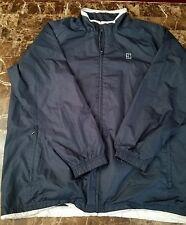 Nike Air Challenge Court Vintahe Tennis Windbreaker Jacket sz L Blue & White EUC