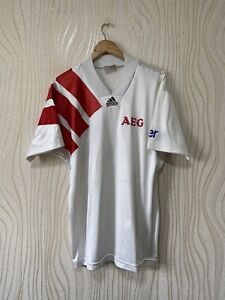 ADIDAS EQUIPMENT 90s FOOTBALL SHIRT SOCCER JERSEY WHITE sz L