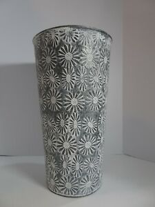 "Metal Umbrella Stand Holder - Flowers -16"" tall"