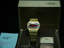 WELLS men's vintage LED watch, one of the very early ones! Works great