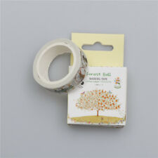 DIY 1.5CM Coloured tree Washi Paper Sticker Masking Adhesive Tape Crafts Fad US
