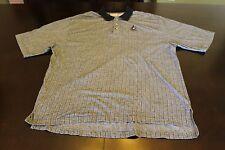 Men's WDW Disney Golf Polo Black and Gray Striped Short Sleeve Shirt Size XXL