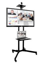 "LCD TV Display Floor Stand Height Adjustable Mount for Flat Screen 37"" to 70"""