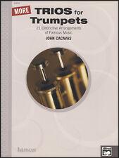 Más tríos para trompetas puntuación de libro de partituras