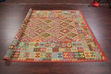 7'x10' Southwestern Kilim Geometric Area Rug Wool Hand-Woven Kilimanjaro Carpet