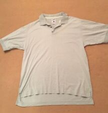 Adidas 60's  2 ply Mercerized Mens Green Polo T Shirt Top Size Large L Stripes