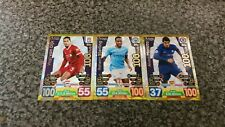 MATCH ATTAX EXTRA 2017/18 FULL SET OF ALL 3 HUNDRED 100 CLUBS MINT