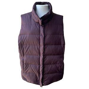 Eileen Fisher Quilted Puffer Plum Vest Women Casual Purple Pockets Down Blend 2X