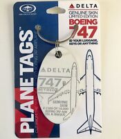 Delta Airlines Boeing 747-400 Aluminum Skin Plane Tag #N665US