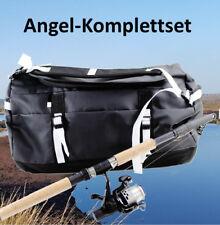 ANGELSET KOMPLETTSET schwarz inkl. ANGELTASCHE Rute Tasche ~ds5+