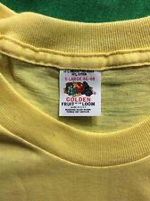 Vtg 70s 80s Golden Fruit Of The Loom Blank Yellow T-Shirt 50/50 XL Plain