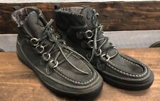 True Religion Boots Brent Leather Sneakers Shoes Men's 8M Black Ankle