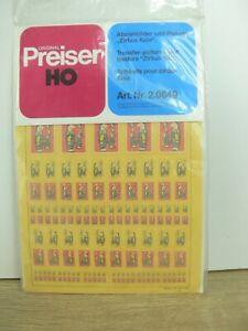 5897) Preiser 20649 ZIRCUS KNIE DECALS Plakate Abziehbilder NEU ORK