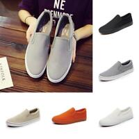 Men's Comfortable Canvas Shoes Classic Slip On Casual Skool Walking Shoes