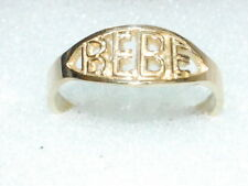 "10k Gold Child Ring with ""BEBE"""