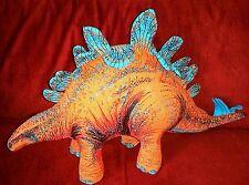 Vintage Applause Stegosaurus Dinosaur Orange Stuffed Plush 1992