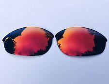 Rojo Rubí polarizadas Grabado Con Espejo De Repuesto Lentes Oakley Media Chaqueta
