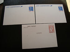FRANCE - 3 cartes entier 1982 1986 (cy54) french