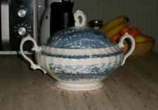 Zuppiera Royal Mail Wessex China Blue & White soup bowl tureen England Microwave