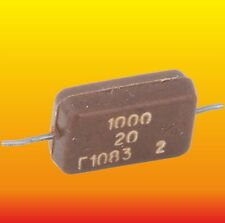 1000pF 500V 20% LOT OF 10 RUSSIAN MILITARY SILVER-MICA CAPACITORS KSOТ-2 КСОТ-2Г