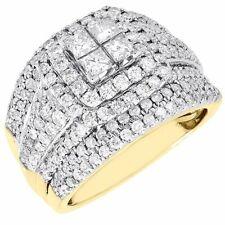 Diamond Engagement Ring Ladies 14K Yellow Gold Princess Halo Wedding 2.01 Tcw.