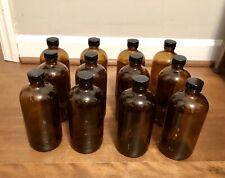 Amber Glass Bottles 8 oz Set of 12