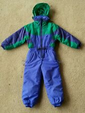EUC one piece RAEWIKS ski snow board suit,waterproof,insulated,blue green,boys 5