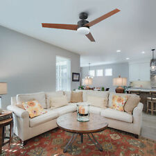 52'' Indoor Ceiling Fan w/ 15W 3 Color Led Light Remote Control 3 Fan Blades