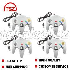 4 For Nintendo 64 N64 USB Grey Controller JoyPad Remote Video Game System