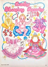 Baby Sleeping Beauty Paper Doll by Pat Frey, 1982 National Doll World Mag.
