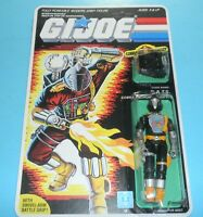 *RECARDED* 1986 GI Joe Cobra BATS BAT v1 Figure Complete *CUSTOM File Card Back*