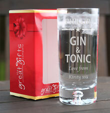 Personalizzata INCISA Boxed Gin & Tonic in vetro regalo compleanno natale stella