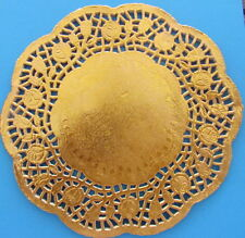 Paper Doilies Round Gold 19cm Pk 10 Great for Cardmaking Crafts Catering etc