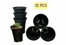 10 PCS 2 inch Round Plastic Pot- Black Garden Plant Pot Flower Planter