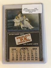 Vintage 1924 Wrigley's PK Gum Advertising Calendar Mother Reading To Children