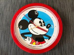 Vintage LORUS Disney Mickey Mouse quartz wall clock Japan. NICE! Tested, working