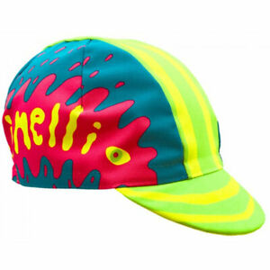 NEW Cinelli Ana Benaroya Snake Cotton Cycling Cap Road Urban Fixie Blue Pink