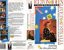 ELTON JOHN LIVE IN AUSTRALIA Vol. 1 & 2 - VHS - NEW - Never played - PAL - RARE!