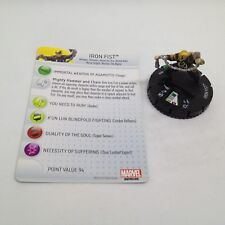 Heroclix Fear Itself set Iron Fist (The Mighty) #018 Uncommon figure w/card!