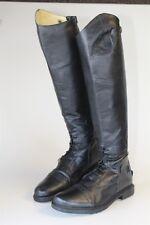 Tuff Rider Mens 12 Tall Black Leather Field Riding Equestrian Zip Boots 3048 jy