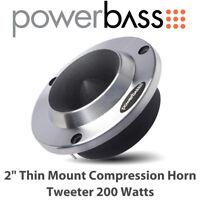 "Powerbass 4XL-2H - 2"" Thin Mount Compression Horn Tweeter 200 Watts (Single)"