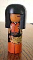 Vintage Artist Signed Wooden Kokeshi Doll